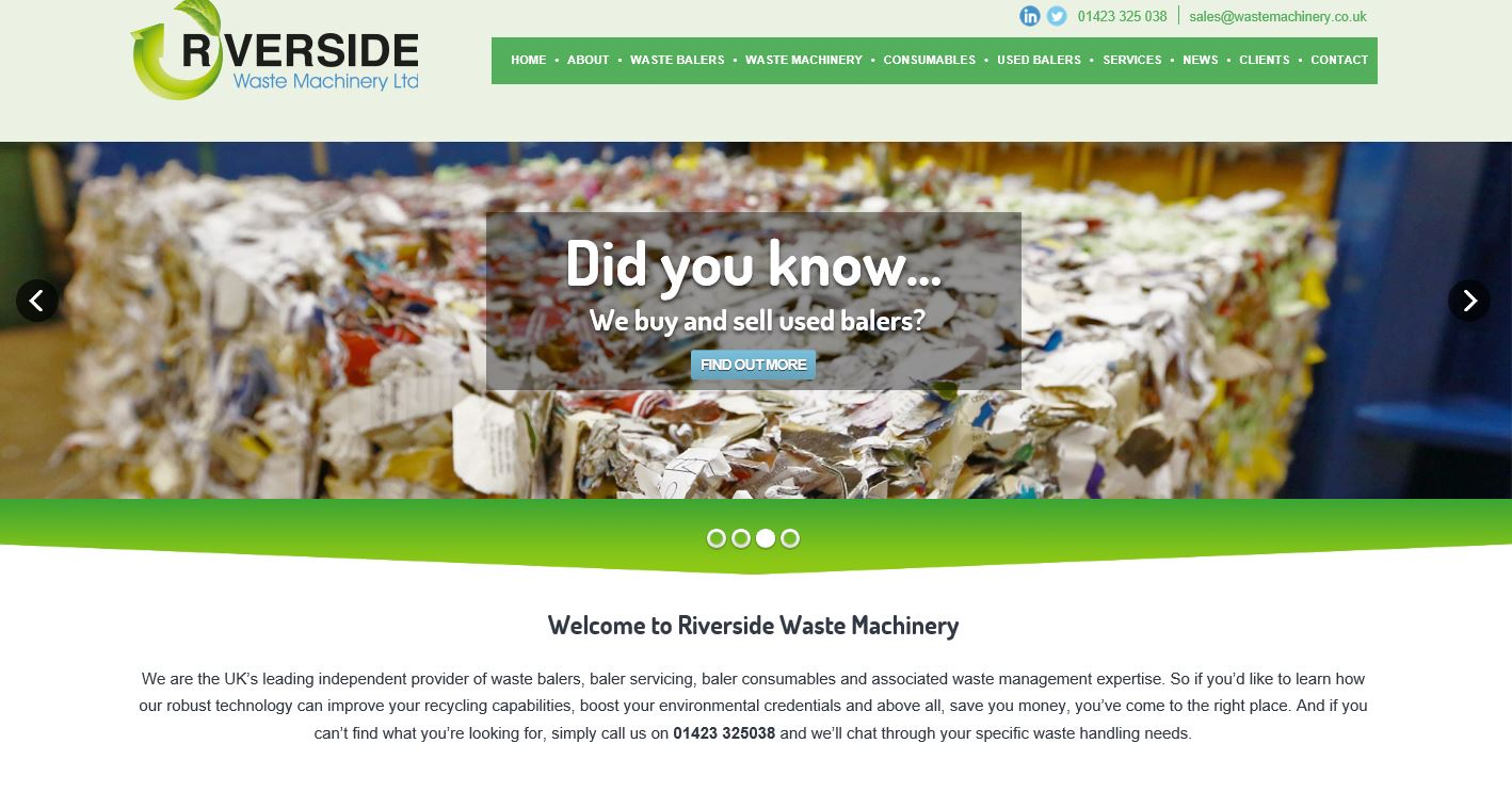 Riverside launches new waste baler website