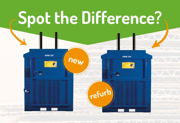Spot the difference – brand new baler VS refurbished baler