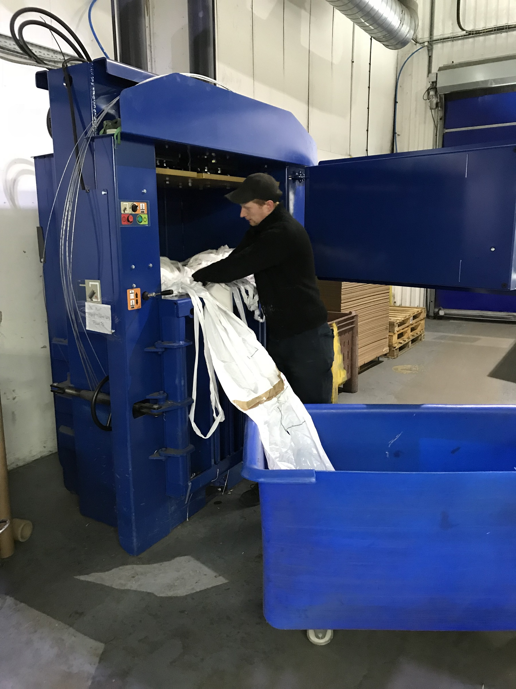 Printing company returns to Riverside for baling needs